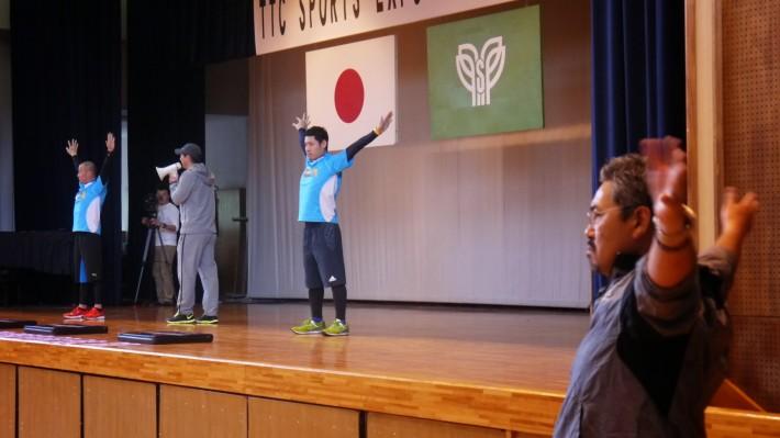 小宮山さんも参加しての野球のためのクリニック