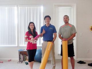 左から勝呂美香さん、石塚、植松泰良ATC