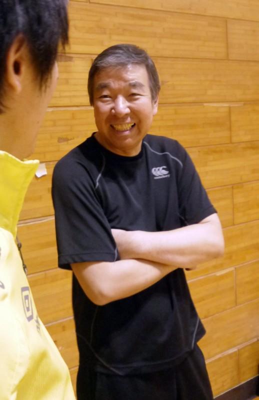 コーチの豊田祐一さんは、元NECレッドロケッツのコーチだった方です