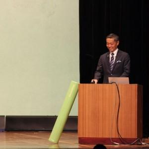 岩崎会長の講演では、参加者のヤル気が喚起されました
